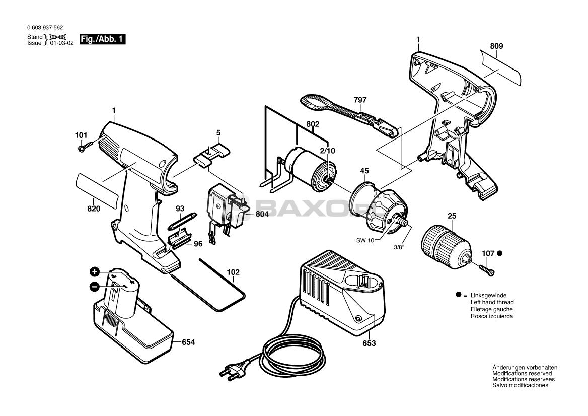 Bosch 11214vs Parts List And Diagram 0611214734